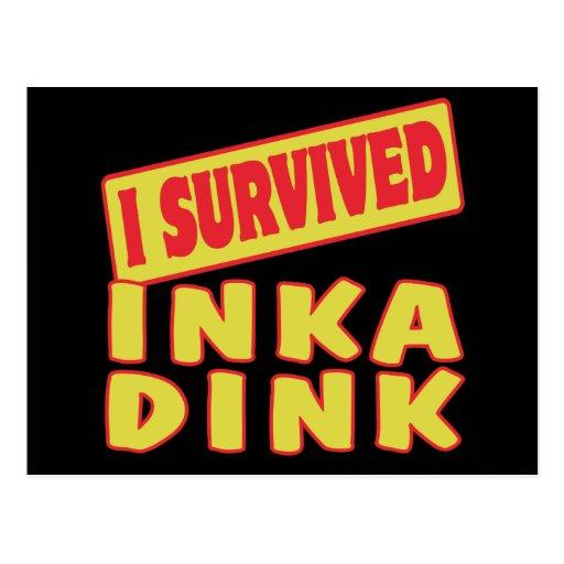 I SURVIVED INKA DINK POST CARDS