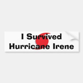 I Survived Irene bumpersticker Bumper Sticker