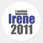 I Survived Irene Classic Round Sticker