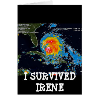 I SURVIVED IRENE GREETING CARD