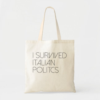 I survived italian politics tote bag