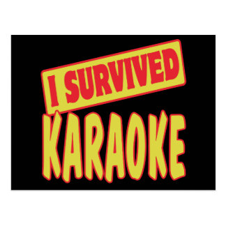 I SURVIVED KARAOKE POSTCARD