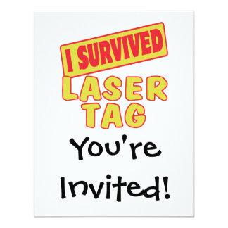 I SURVIVED LASER TAG CARD