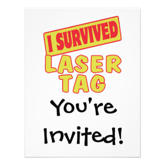 I SURVIVED LASER TAG INVITE