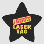 I SURVIVED LASER TAG STAR STICKERS