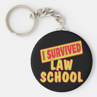 I SURVIVED LAW SCHOOL BASIC ROUND BUTTON KEY RING