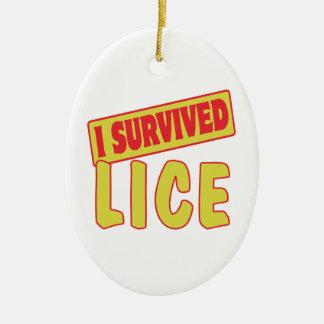 I SURVIVED LICE CERAMIC OVAL DECORATION