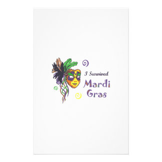 I SURVIVED MARDI GRAS CUSTOMIZED STATIONERY