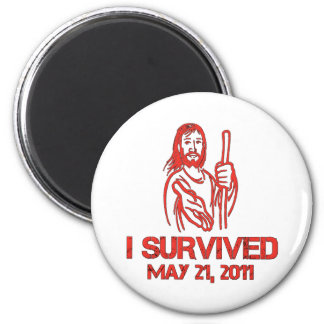 I Survived May 21, 2011 6 Cm Round Magnet