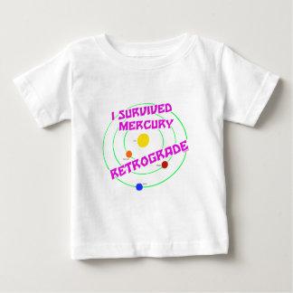 I Survived Mercury Retrograde pink T Shirts