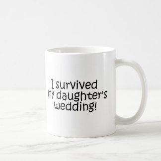 I Survived My Daughter's Wedding Basic White Mug