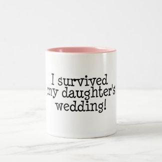 I Survived My Daughter's Wedding Two-Tone Mug