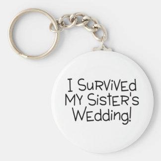 I Survived My Sister's Wedding (Black) Basic Round Button Key Ring