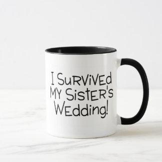 I Survived My Sister's Wedding Black Mug