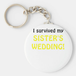 I Survived my Sister's Wedding Keychain