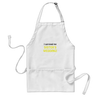 I Survived my Sister's Wedding Standard Apron
