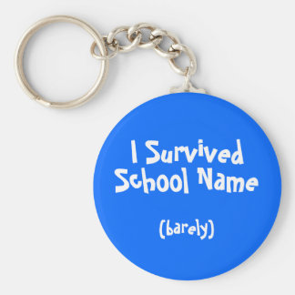 I Survived Named School Keychain