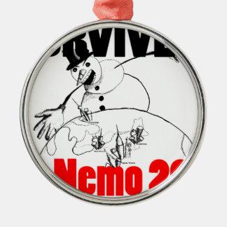 I survived Nemo 2013 Silver-Colored Round Decoration