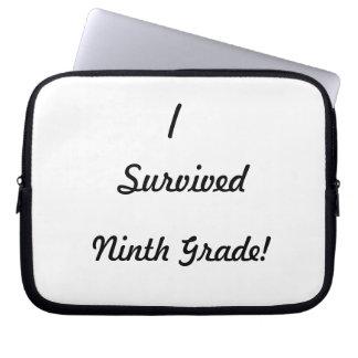 I survived Ninth Grade Laptop Computer Sleeve