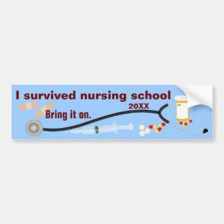 I Survived Nursing School Bumper Sticker
