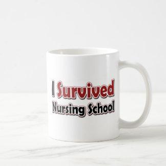 I Survived Nursing School Basic White Mug