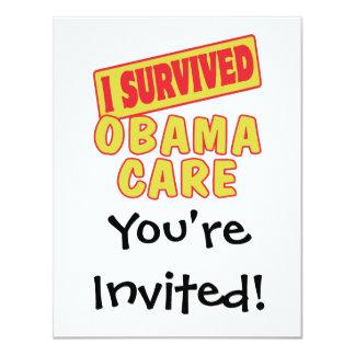I SURVIVED OBAMACARE CUSTOM INVITATIONS