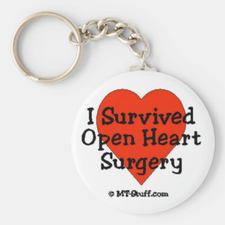I Survived Open Heart Surgery Basic Round Button Key Ring