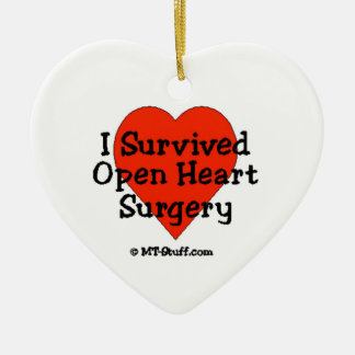I Survived Open Heart Surgery Christmas Ornament