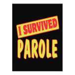 I SURVIVED PAROLE 17 CM X 22 CM INVITATION CARD