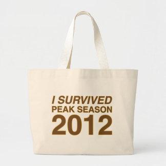 I Survived Peak Large Tote Bag