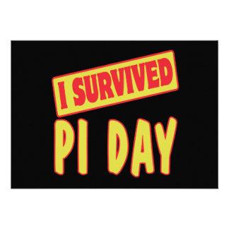 I SURVIVED PI DAY CUSTOM INVITATIONS