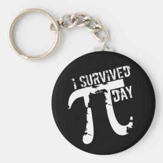 I Survived Pi Day - Funny Pi Day Basic Round Button Key Ring