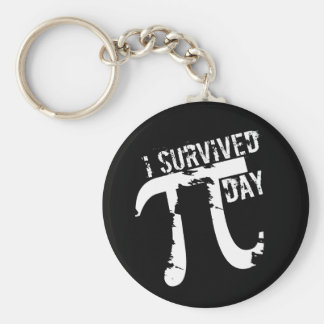 I Survived Pi Day - Funny Pi Day Key Chains