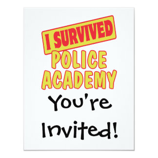 I SURVIVED POLICE ACADEMY 11 CM X 14 CM INVITATION CARD
