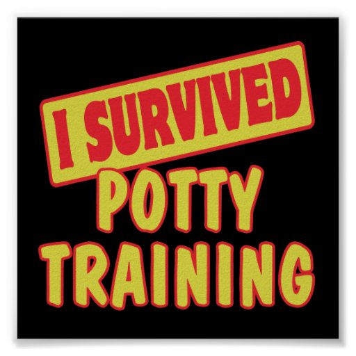 I SURVIVED POTTY TRAINING POSTER