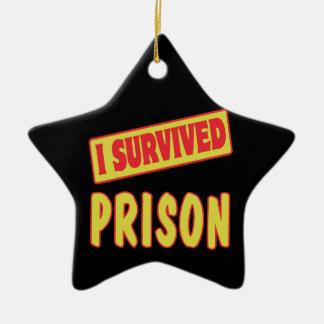 I SURVIVED PRISON CERAMIC STAR DECORATION