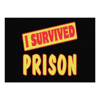 I SURVIVED PRISON CUSTOM INVITES