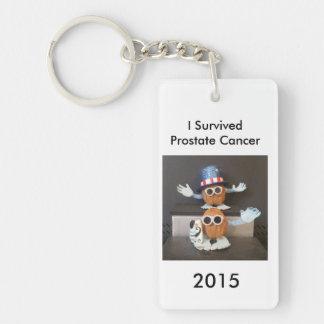 I Survived Prostate Cancer 2015 Single-Sided Rectangular Acrylic Key Ring
