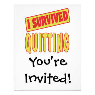 I SURVIVED QUITTING ANNOUNCEMENT