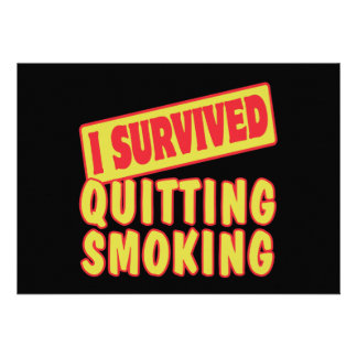 I SURVIVED QUITTING SMOKING ANNOUNCEMENTS