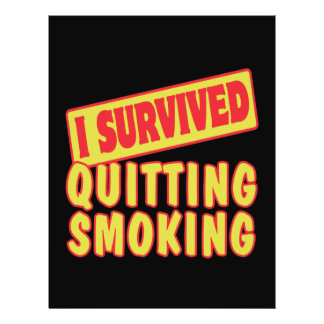 I SURVIVED QUITTING SMOKING PERSONALIZED FLYER