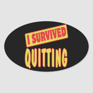 I SURVIVED QUITTING STICKERS