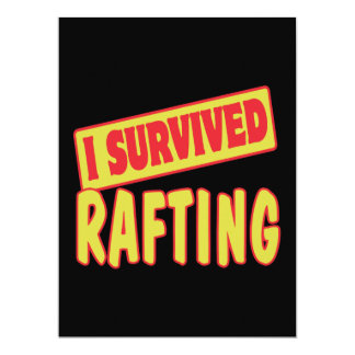 I SURVIVED RAFTING 17 CM X 22 CM INVITATION CARD