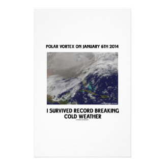 I Survived Record Breaking Cold Weather Personalized Stationery