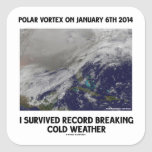 I Survived Record Breaking Cold Weather Stickers