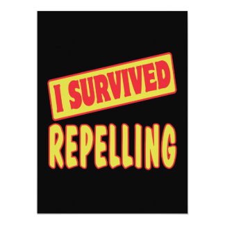 I SURVIVED REPELLING PERSONALIZED ANNOUNCEMENT