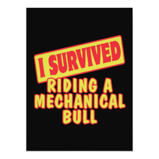 I SURVIVED RIDING A MECHANICAL BULL INVITATION