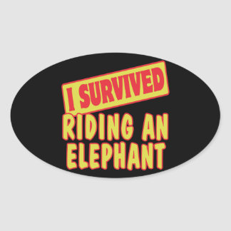 I SURVIVED RIDING AN ELEPHANT STICKER