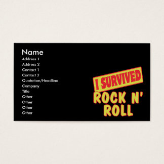 I SURVIVED ROCK N ROLL BUSINESS CARD