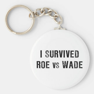 I Survived Roe Vs Wade Basic Round Button Key Ring